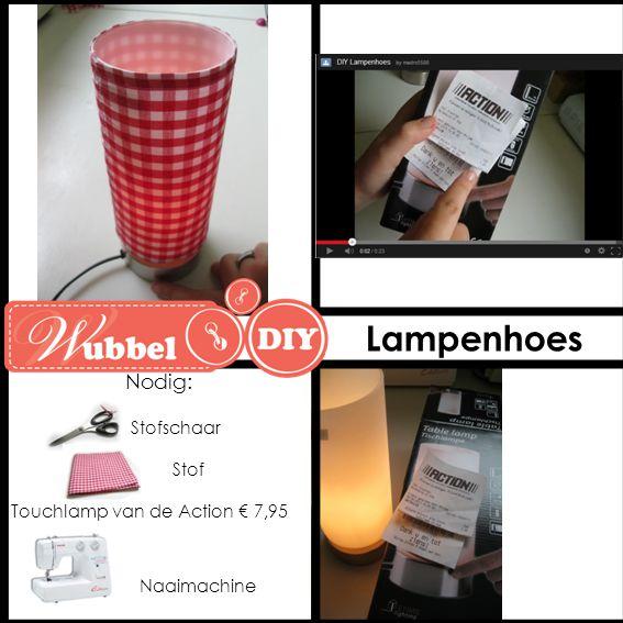 Lampenhoes Nodig: Stofschaar Stof Touchlamp van de Action € 7,95
