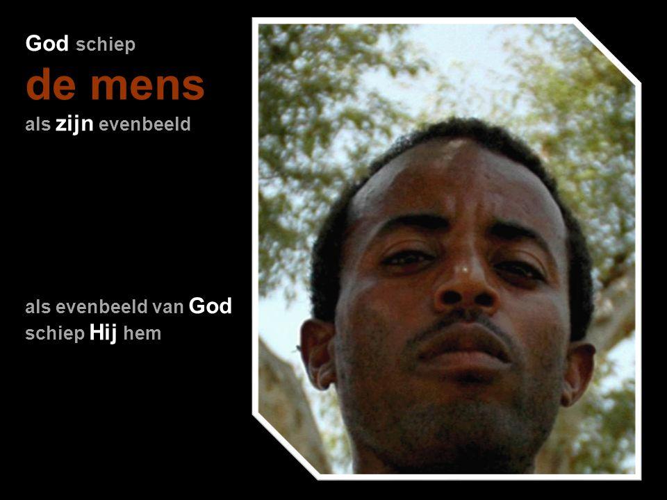 de mens God schiep als zijn evenbeeld als evenbeeld van God