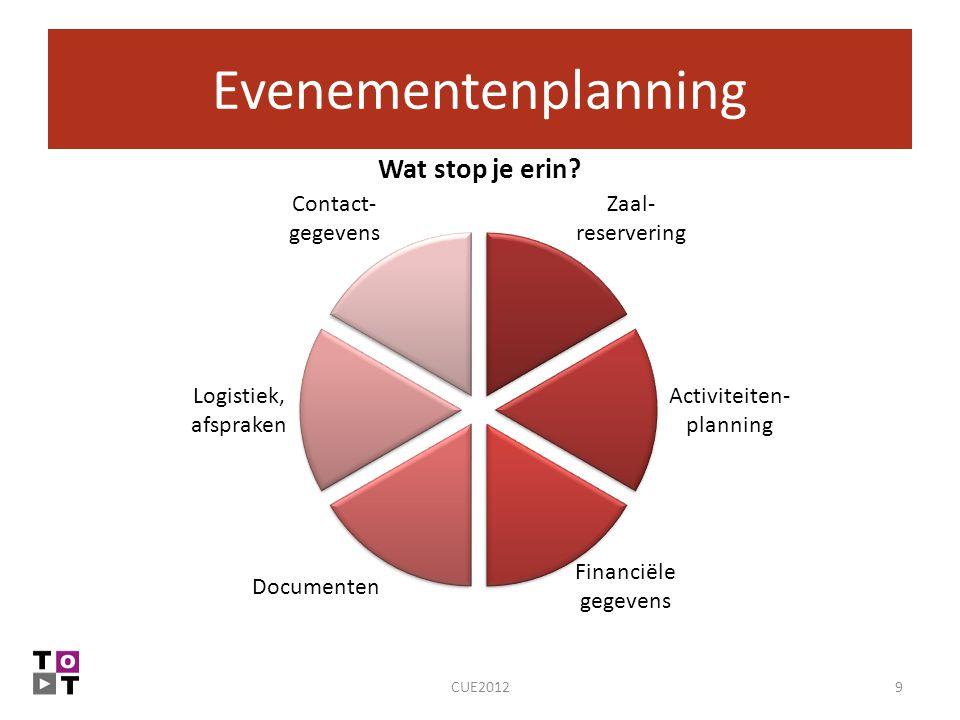 Evenementenplanning CUE2012