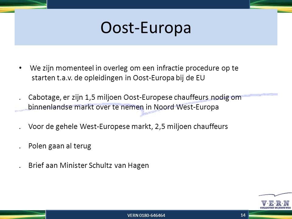 Oost-Europa We zijn momenteel in overleg om een infractie procedure op te. starten t.a.v. de opleidingen in Oost-Europa bij de EU.