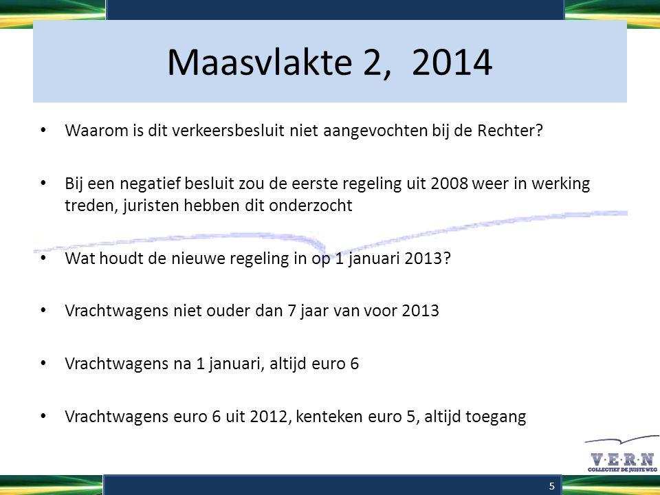 Maasvlakte 2, 2014 Waarom is dit verkeersbesluit niet aangevochten bij de Rechter