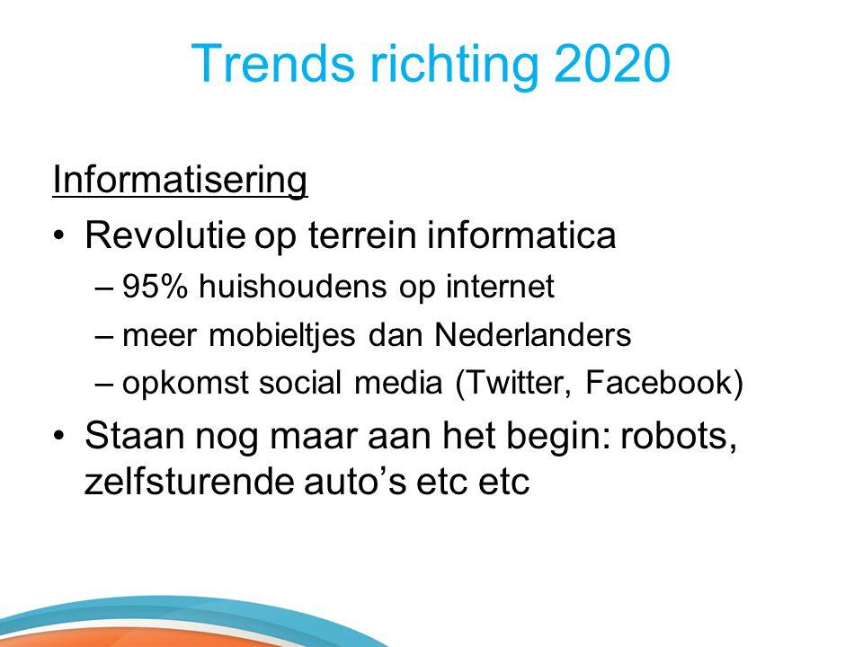 Trends richting 2020 Informatisering Revolutie op terrein informatica