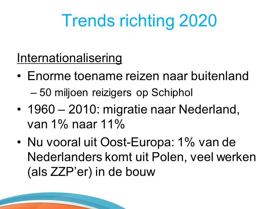 Trends richting 2020 Internationalisering