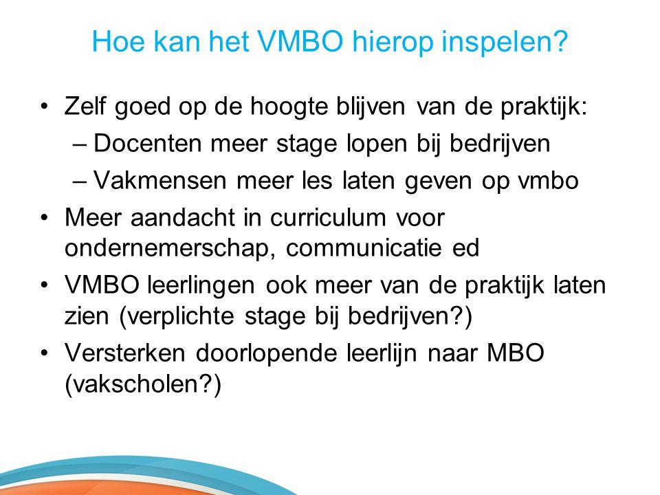 Hoe kan het VMBO hierop inspelen