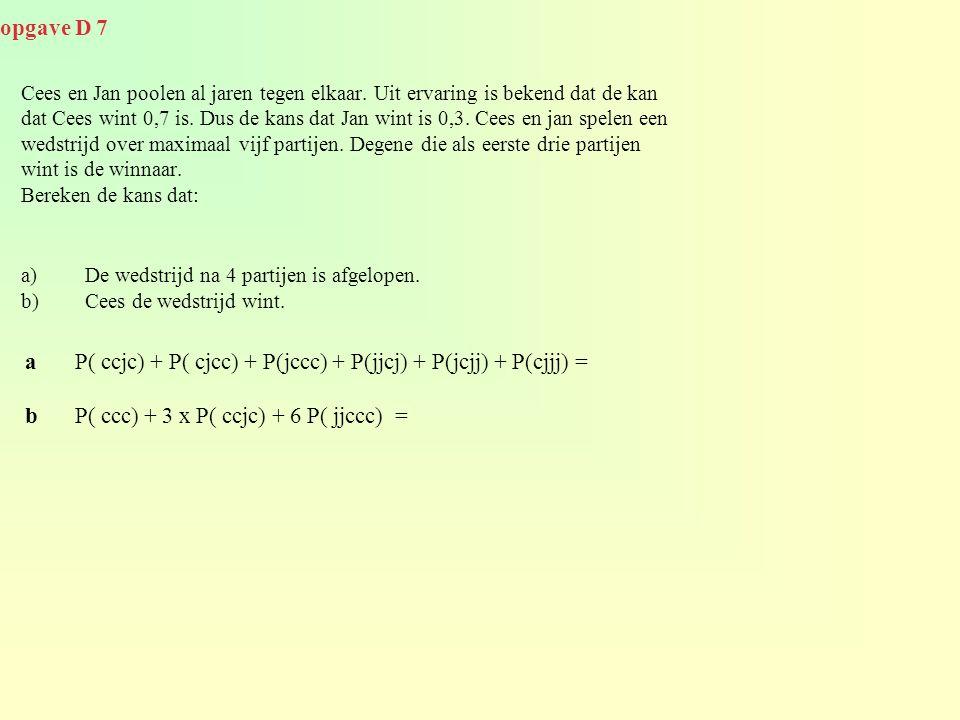 a P( ccjc) + P( cjcc) + P(jccc) + P(jjcj) + P(jcjj) + P(cjjj) =