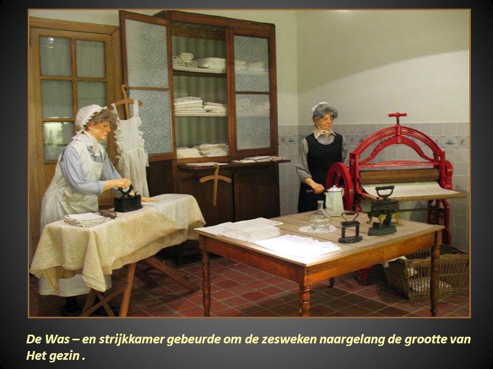 De Was – en strijkkamer gebeurde om de zesweken naargelang de grootte van