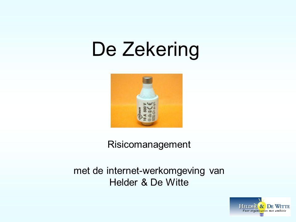 Risicomanagement met de internet-werkomgeving van Helder & De Witte