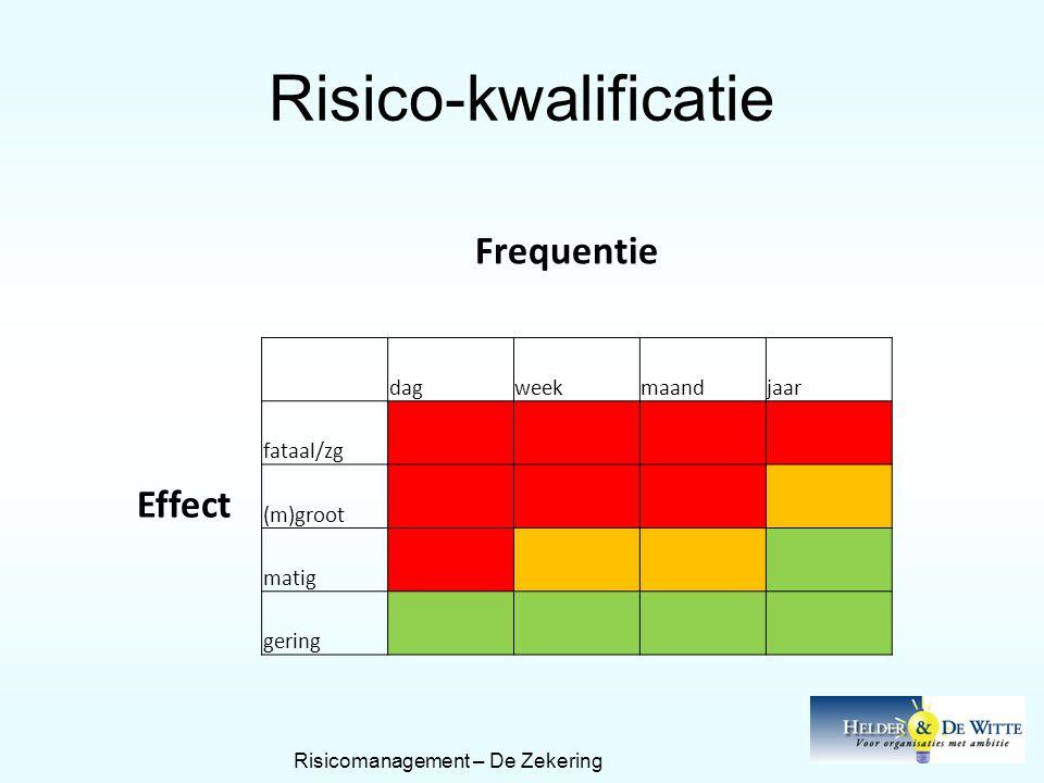 Risicomanagement – De Zekering