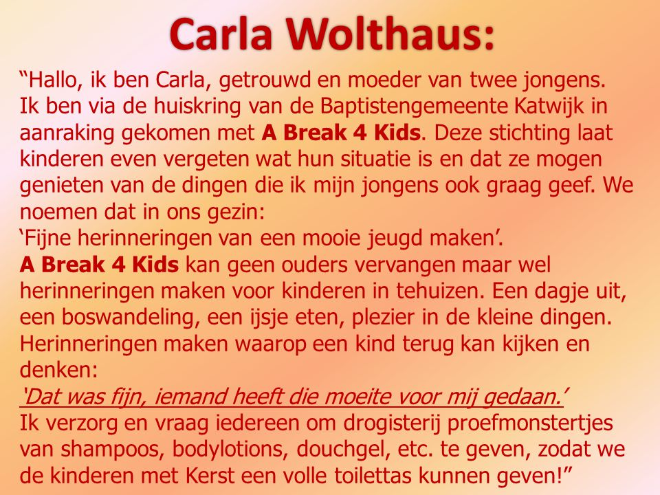 Carla Wolthaus: