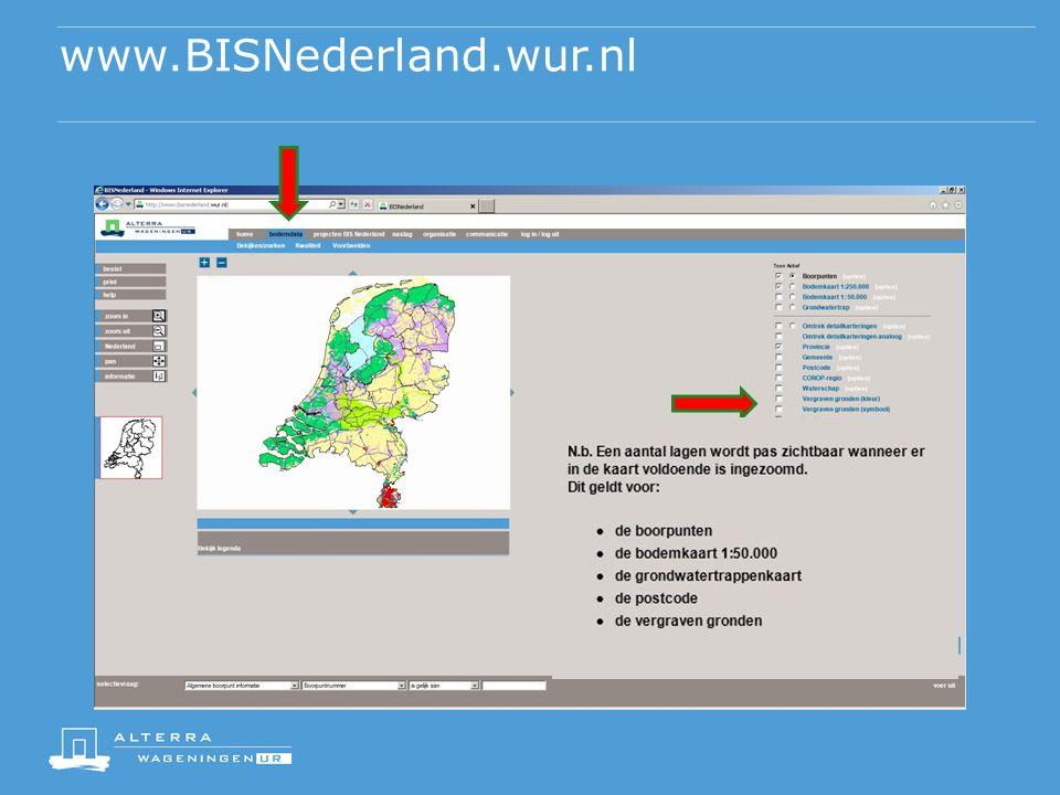 www.BISNederland.wur.nl Let op