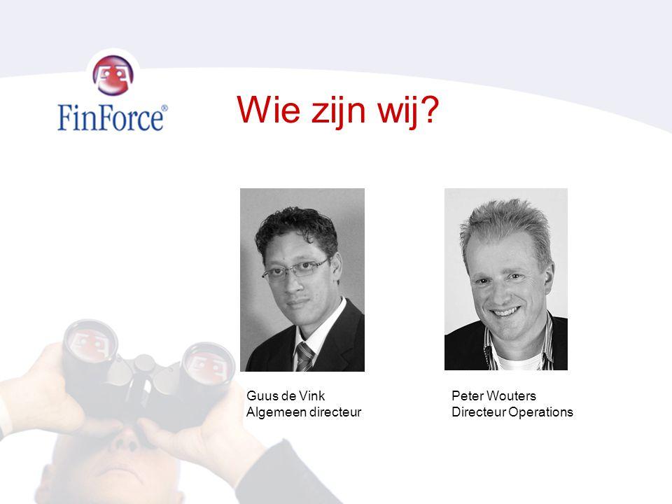 Wie zijn wij Guus de Vink Algemeen directeur Peter Wouters