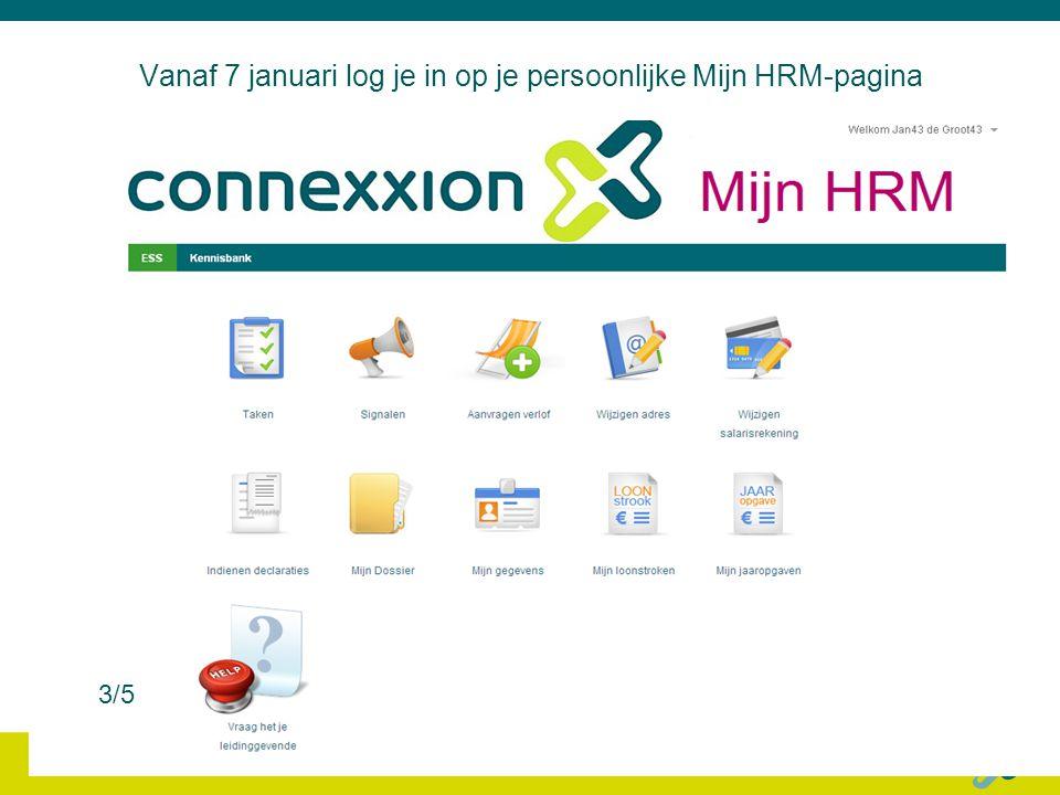 Vanaf 7 januari log je in op je persoonlijke Mijn HRM-pagina