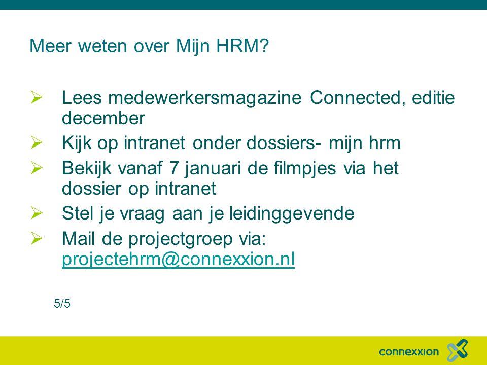Meer weten over Mijn HRM