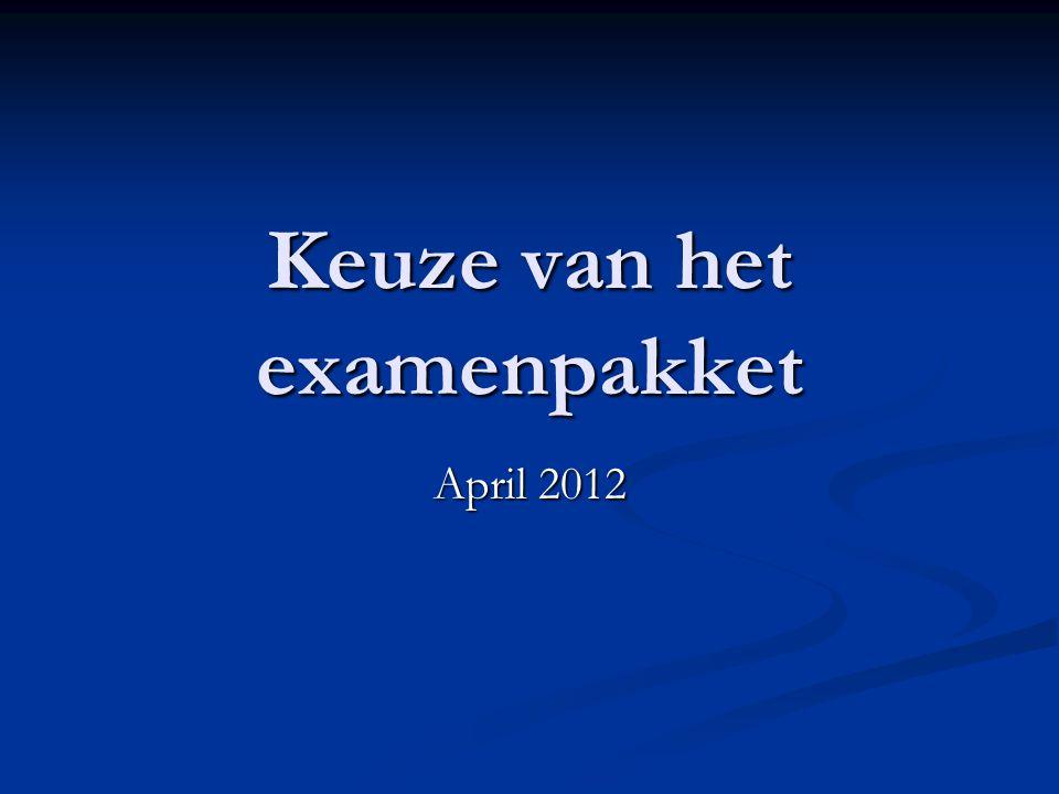 Keuze van het examenpakket