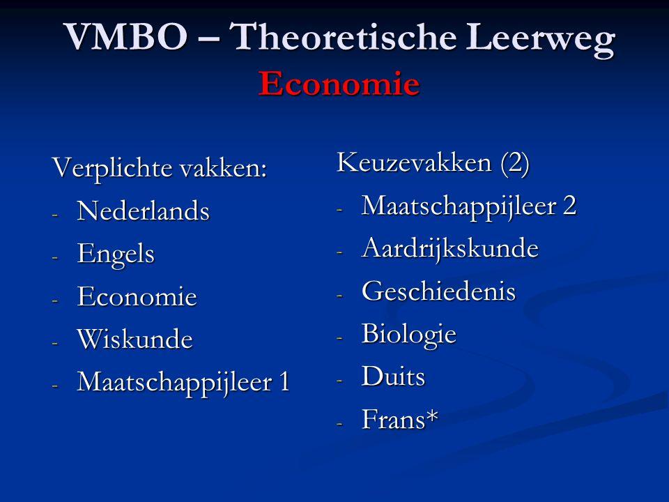 VMBO – Theoretische Leerweg Economie