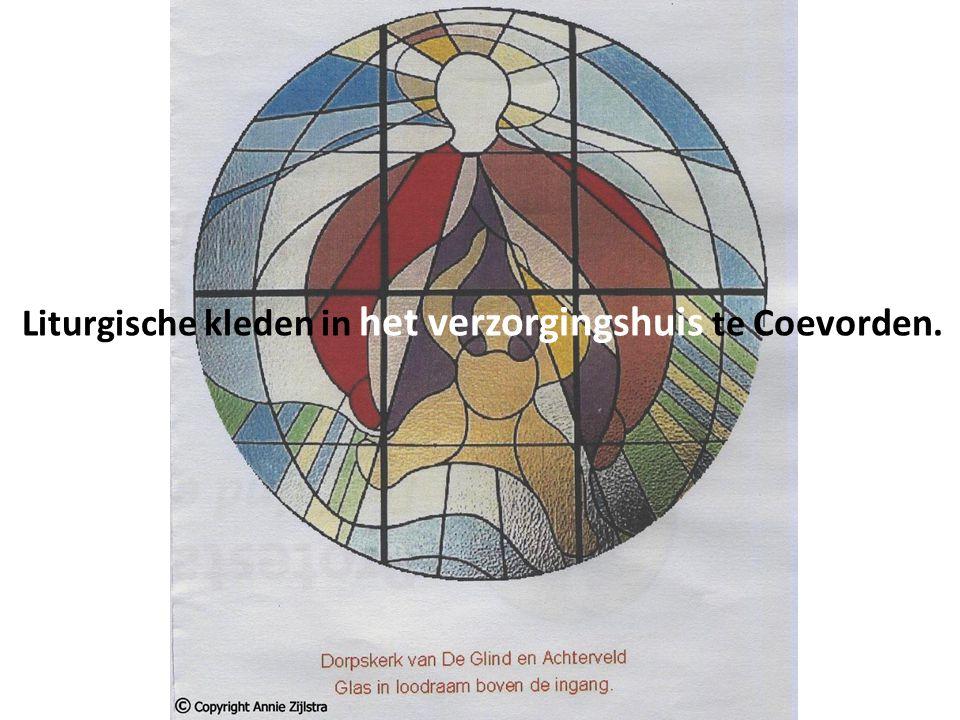 Liturgische kleden in het verzorgingshuis te Coevorden.