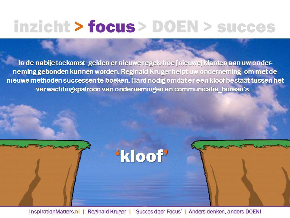 inzicht > focus > DOEN > succes 'kloof'
