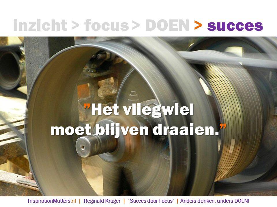 inzicht > focus > DOEN > succes Het vliegwiel