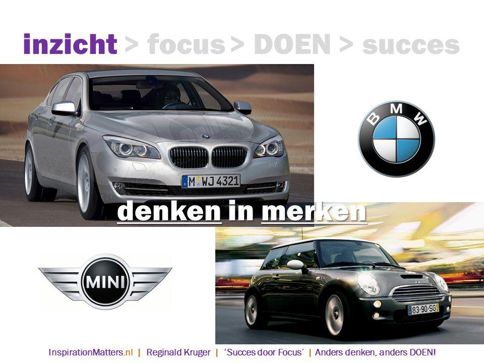 inzicht > focus > DOEN > succes denken in merken