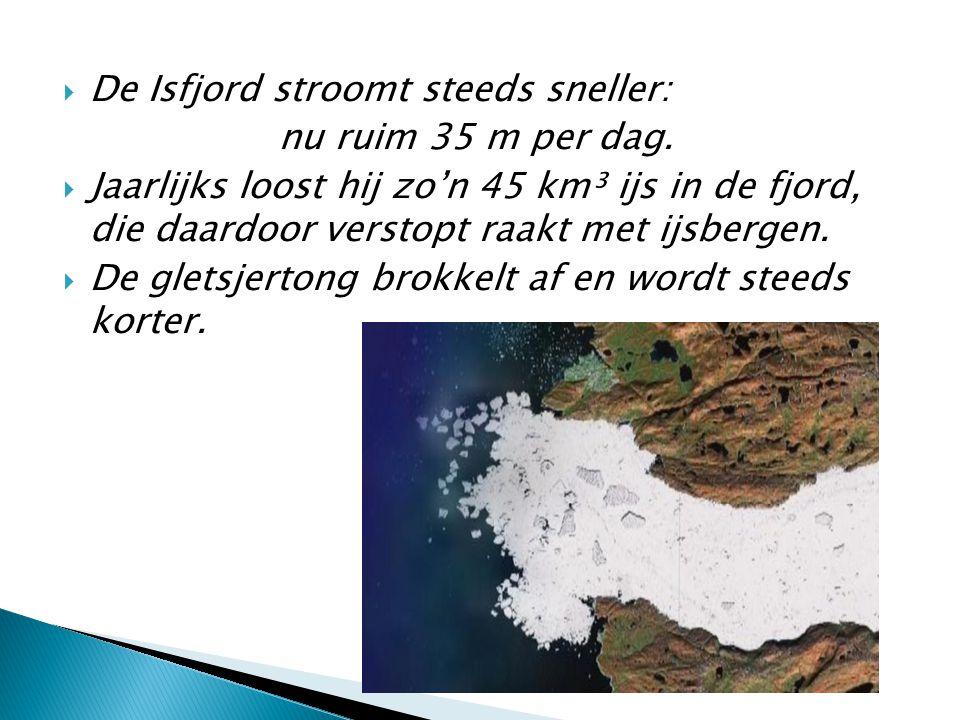 De Isfjord stroomt steeds sneller: