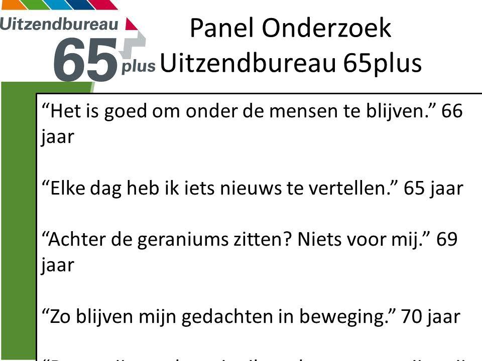 Panel Onderzoek Uitzendbureau 65plus