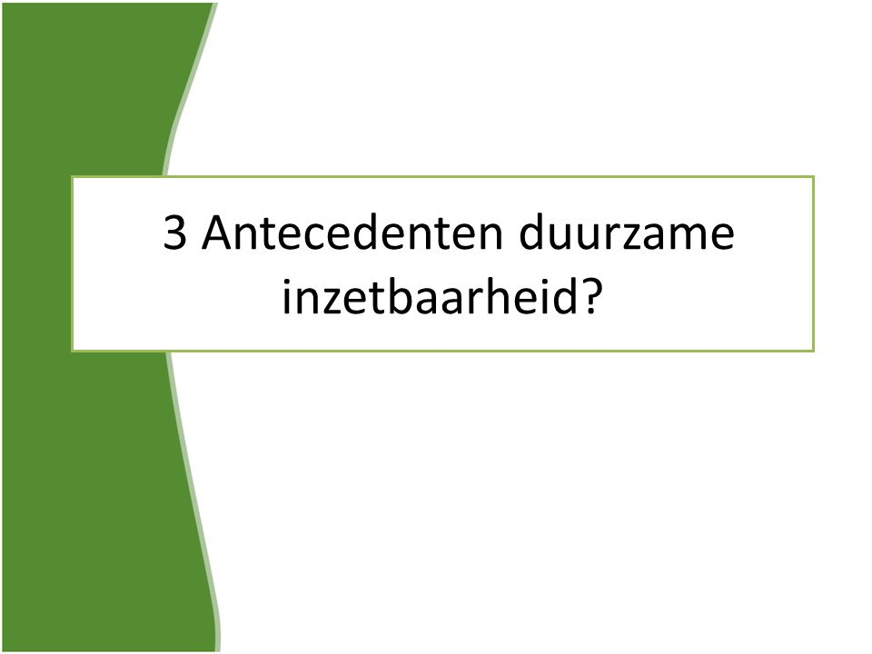 3 Antecedenten duurzame inzetbaarheid