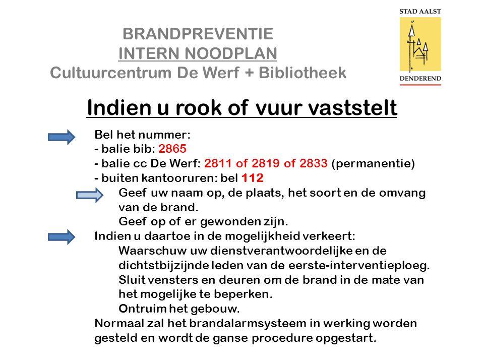 BRANDPREVENTIE INTERN NOODPLAN Cultuurcentrum De Werf + Bibliotheek