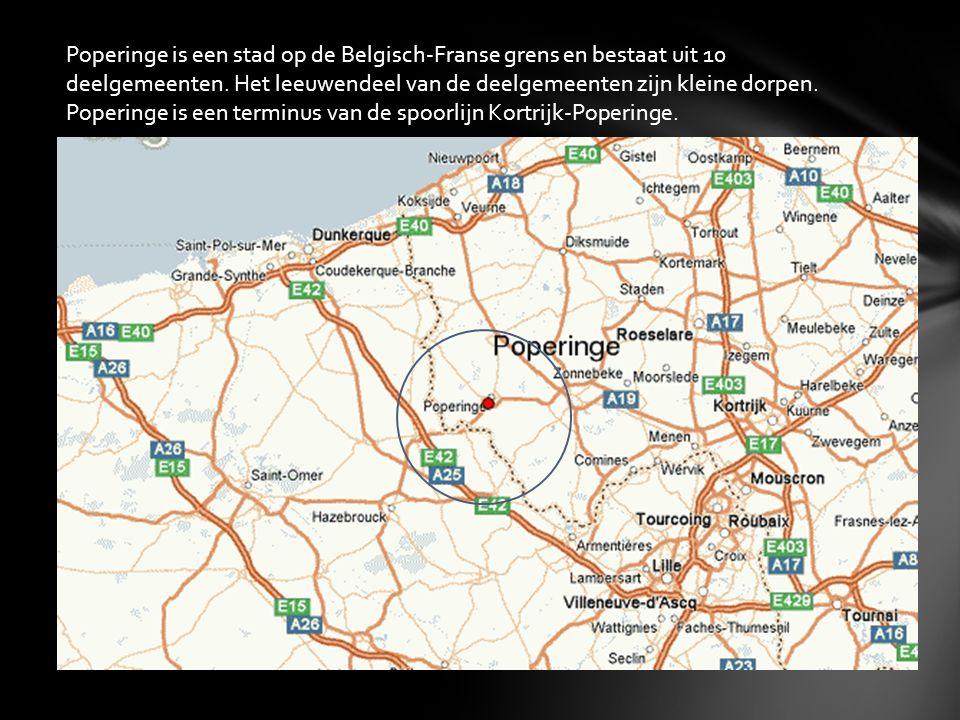 Poperinge is een stad op de Belgisch-Franse grens en bestaat uit 10 deelgemeenten.