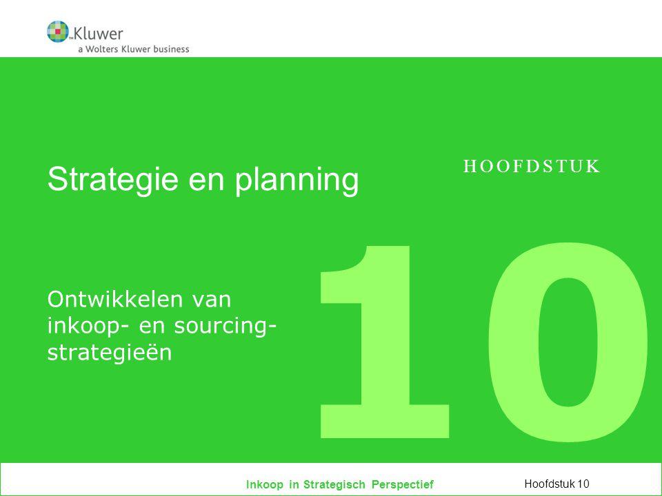 Ontwikkelen van inkoop- en sourcing- strategieën