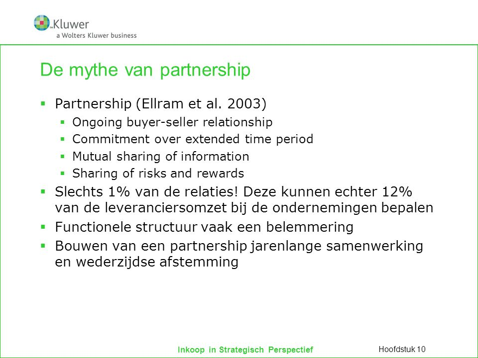 De mythe van partnership