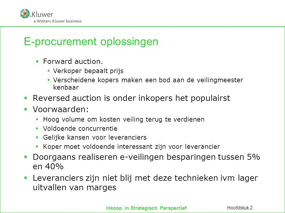 E-procurement oplossingen