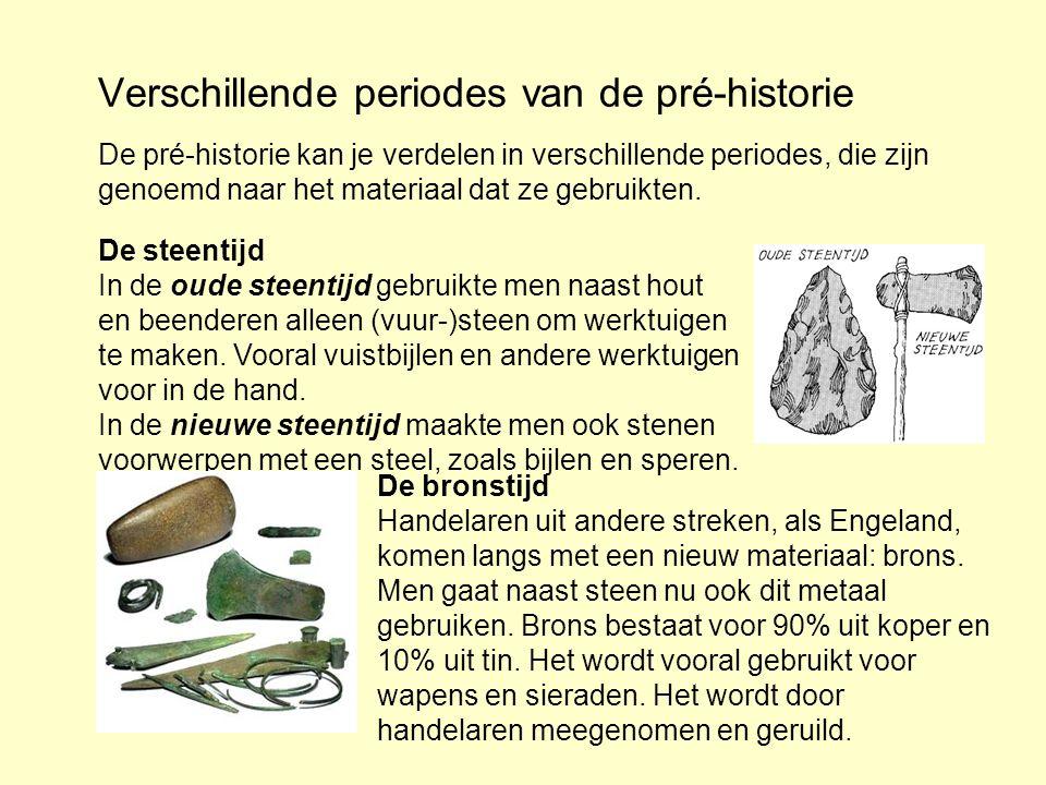 Verschillende periodes van de pré-historie