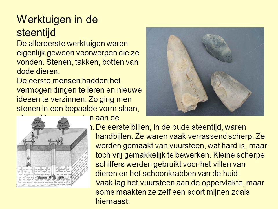 Werktuigen in de steentijd