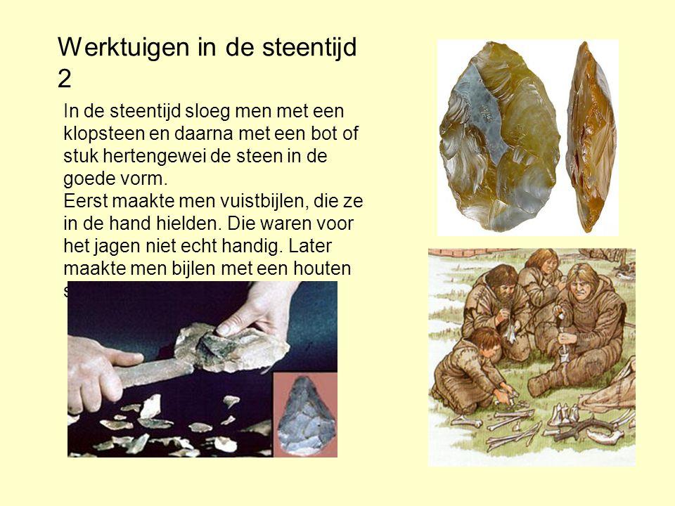 Werktuigen in de steentijd 2