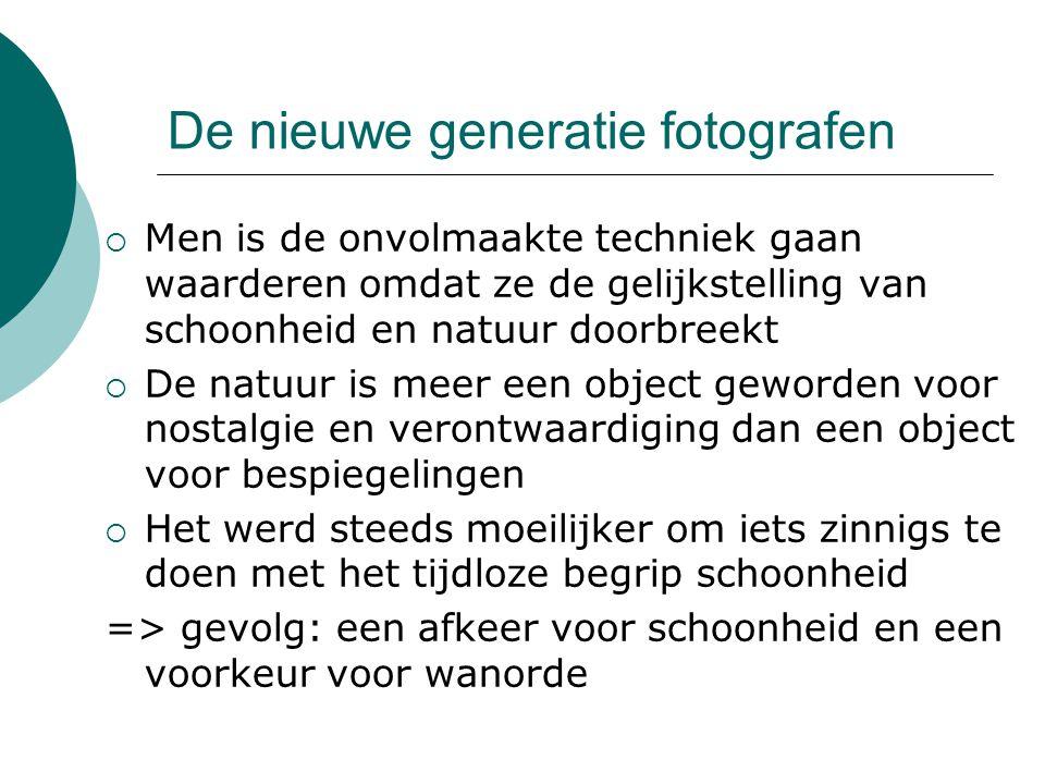 De nieuwe generatie fotografen