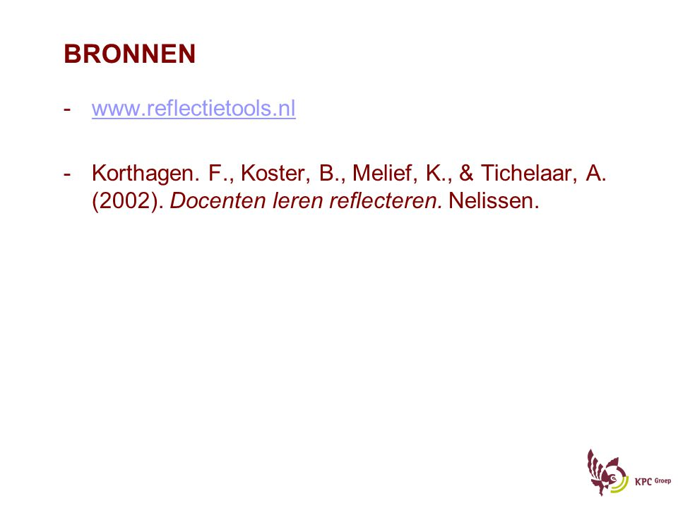 BRONNEN www.reflectietools.nl