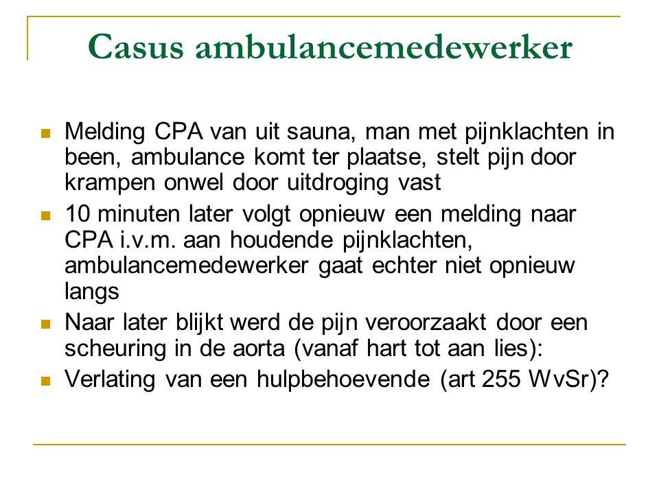 Casus ambulancemedewerker