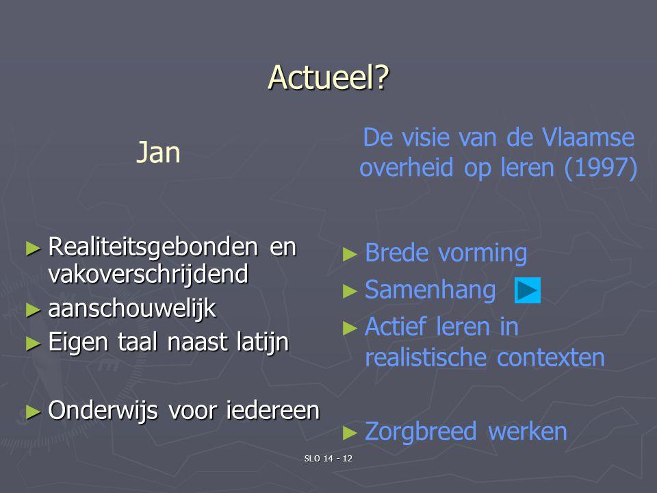 De visie van de Vlaamse overheid op leren (1997)