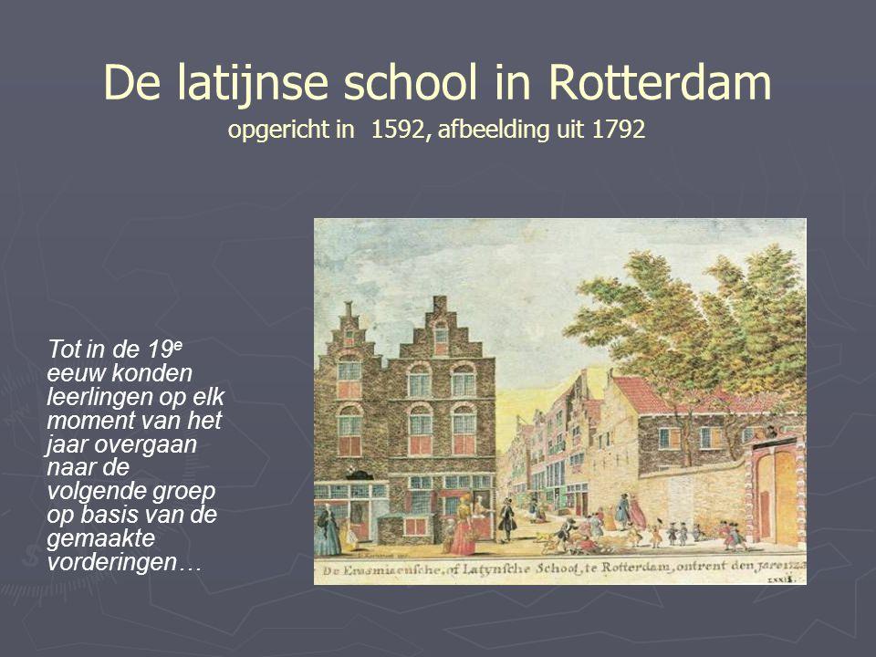 De latijnse school in Rotterdam opgericht in 1592, afbeelding uit 1792