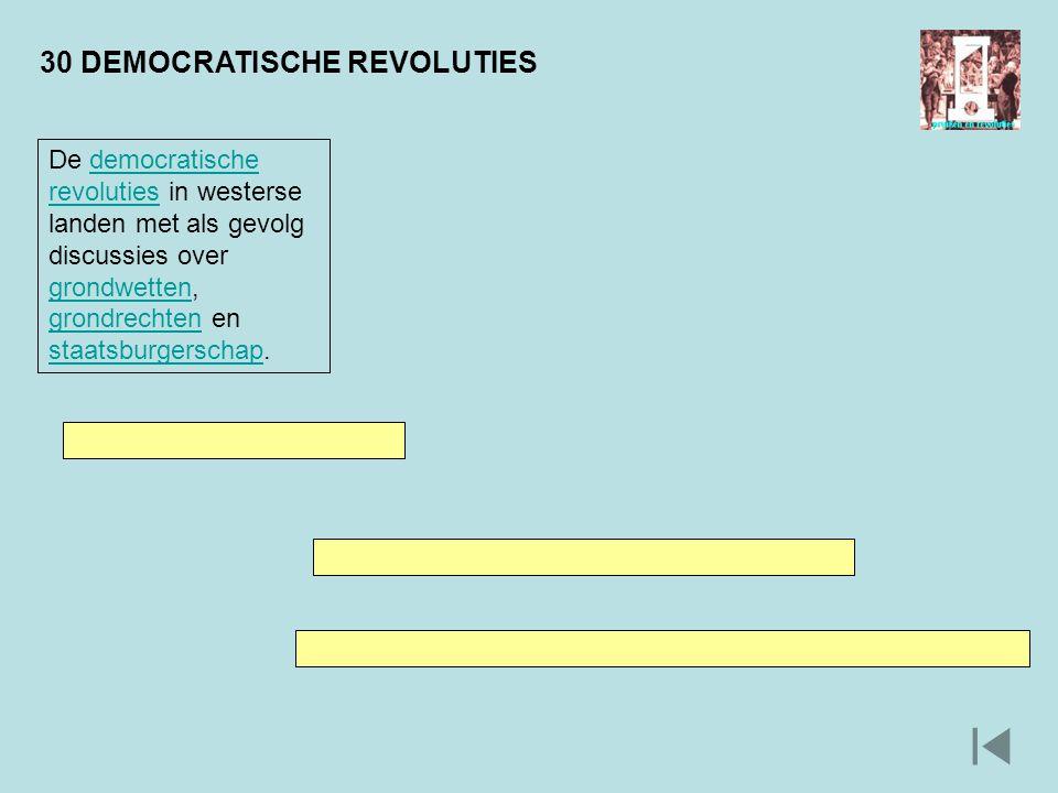 30 DEMOCRATISCHE REVOLUTIES