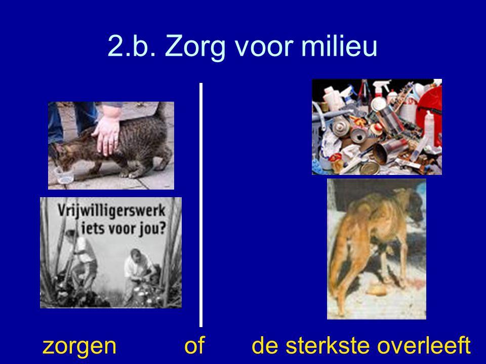 2.b. Zorg voor milieu zorgen of de sterkste overleeft