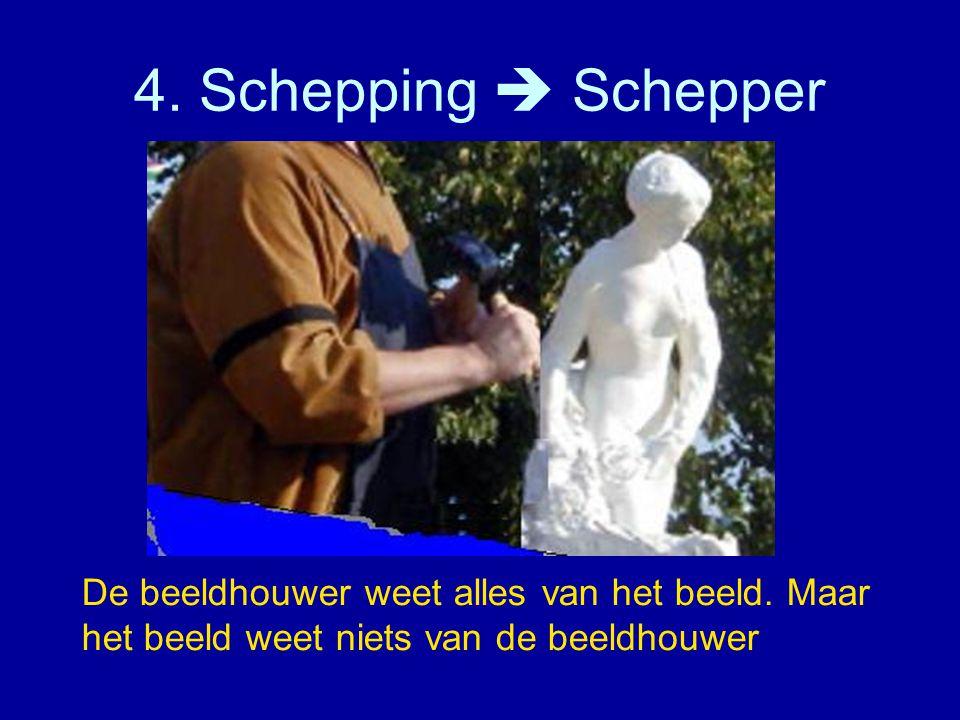 4. Schepping  Schepper De beeldhouwer weet alles van het beeld.