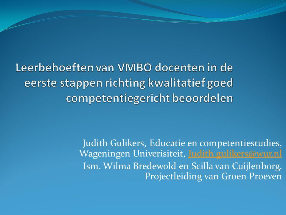 Leerbehoeften van VMBO docenten in de eerste stappen richting kwalitatief goed competentiegericht beoordelen
