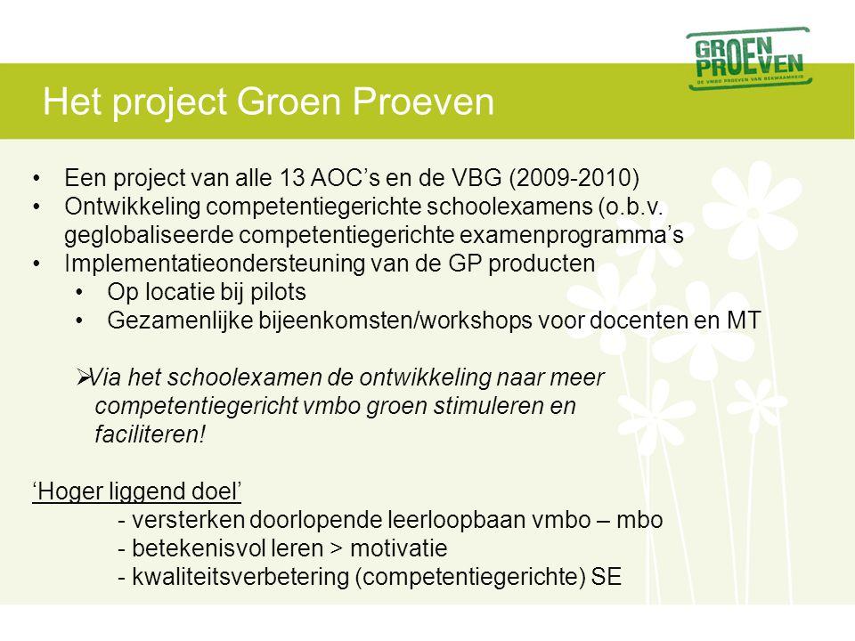Het project Groen Proeven