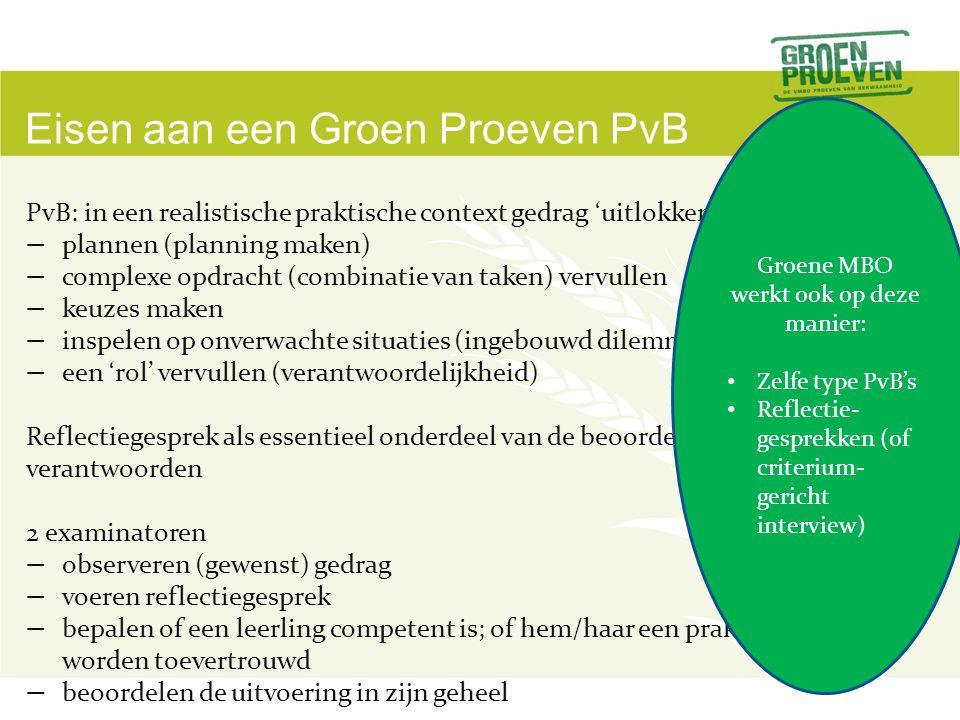 Groene MBO werkt ook op deze manier: