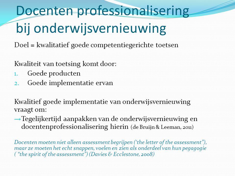 Docenten professionalisering bij onderwijsvernieuwing