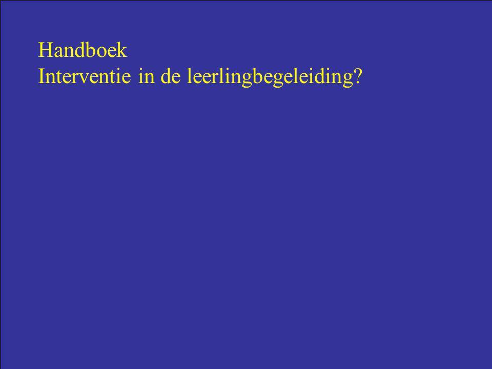 Handboek Interventie in de leerlingbegeleiding