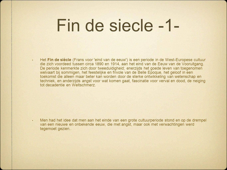 Fin de siecle -1-