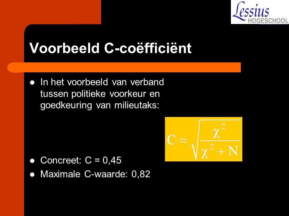 Voorbeeld C-coëfficiënt