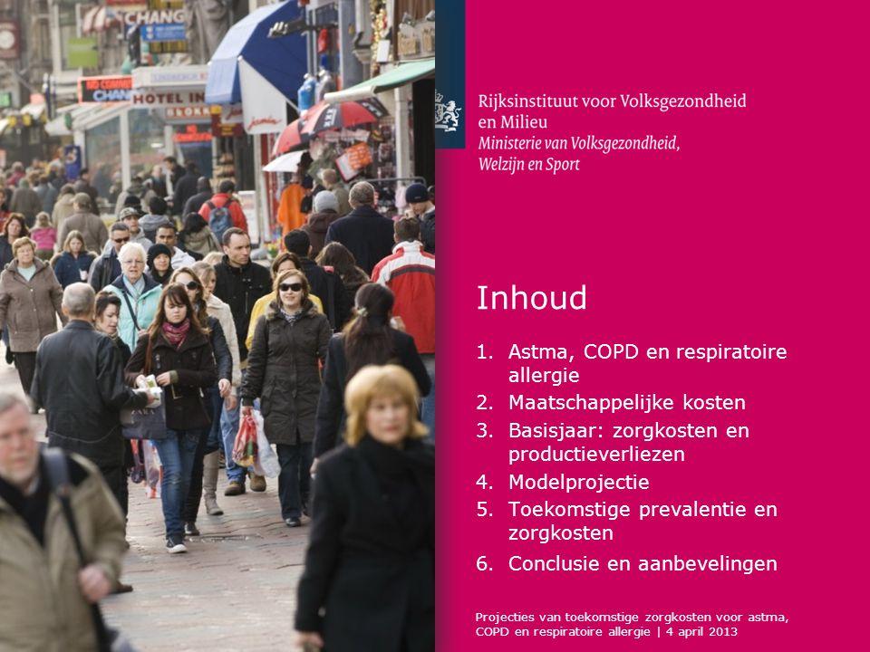 Inhoud Astma, COPD en respiratoire allergie Maatschappelijke kosten
